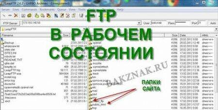 LeapFTP в подключенном состоянии.