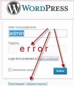Два главных способа восстановить пароль на word press
