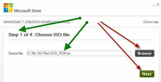Шаг №1 выбираем iso файл