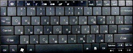 Фото клавиатуры ноутбука  acer