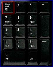 Отключить цифры на клавиатуре